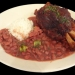 red beans with  smoked hamshank